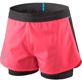 Dynafit Alpine Pro 2in1 Shorts Damen fluo pink